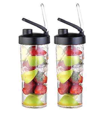 Extra 2x To-Go Cups for Luvelo Mighty Blender Smoothie Maker CUPS ONLY Luvele
