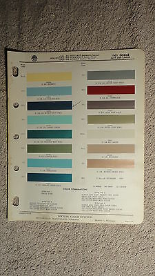 Ditzler Paint Chip Charts - 1961 Dodge