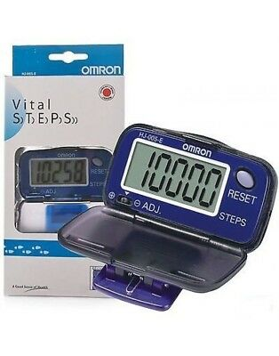 Omron HJ005-E Large Screen LCD Walking Exercise Walking Pedometer Step Counter