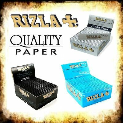 Rizla King Size Slim Ultra Thin Cigarette Paper Rolling Cig Booklet Box