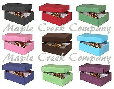 Set of 5 Small Jewelry Boxes with Cotton Insert FOR GIFT WRAPPING & CRAFTS