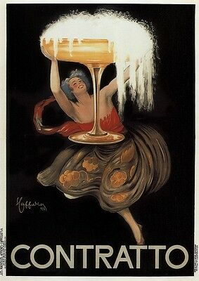 Contratto 1922 - Italy, Italian vintage old repro drink poster