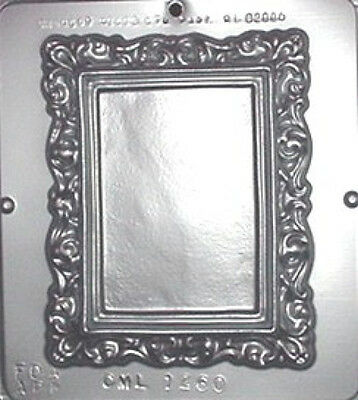 "Picture Frame 6"" x 7"" Chocolate Candy Mold 1260 NEW"