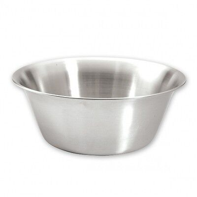 MIXING BOWL STRONG 24cm STAINLESS STEEL 2/PACK TAPERED BRAND-NEW 2.25-litre