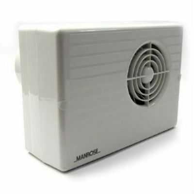 """Manrose CF200H Centrifugal Bathroom Extractor Fan with Humidistat/Timer - 4"""""""