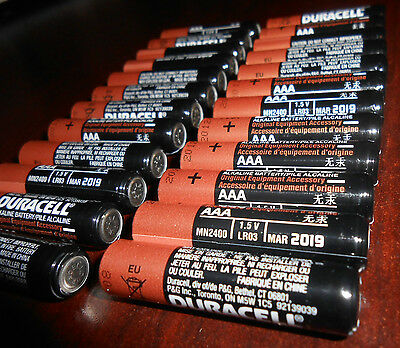 24 NEW DURACELL AAA MN2400 LR03 1.5V Alkaline Battery Exp 2019 comes in bulk