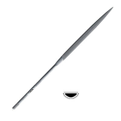 """Grobet Vallorbe Swiss Made Needle File Half Round Cut 0 Long 6-1/4"""" Jewelry Tool"""