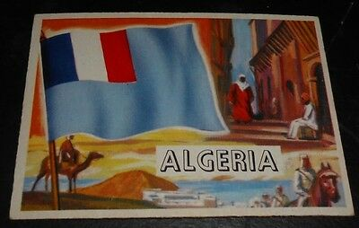 1956 Topps Trading Cards Flags of the World #51 ALGERIA