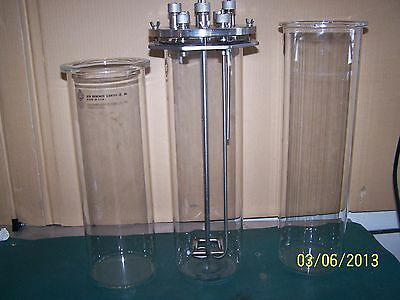 New Brunswick Scientific  BioFlo Glass Vessel 7.5 liters With 2 Extra Vessels