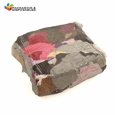 10Kg Bag Of Cleaning Wiping Mixed Rags Industrial Mechanic