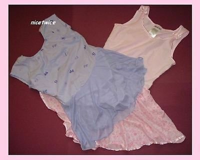 DANSKIN 2 Piece Lot Skirted Gymnastic Dance L 10 - 12