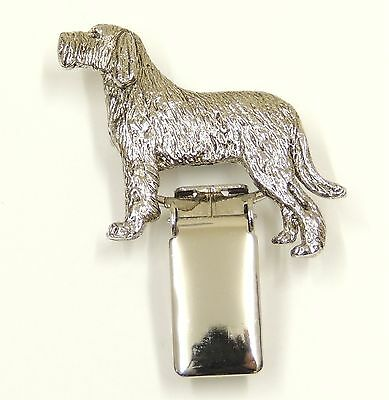 Italian Spinone with Tail Show Ring Clip/Number Holder.  In Silver or Gold