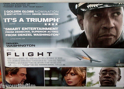 Cinema Poster: FLIGHT 2013 (Quad) Nadine Velazquez Denzel Washington
