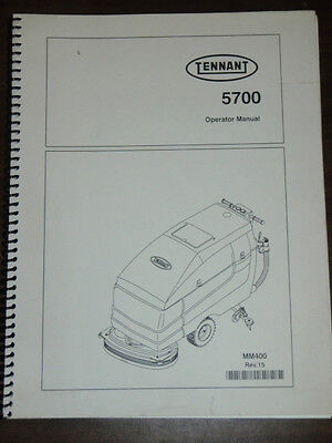 Tennant _ MM400 Rev. 15 _ Cleaning Equipment Operator Manual for Model 5700 2002