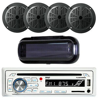 Marine Silver Detachable Face USB Stereo & Wireless Bluetooth 4 Speakers /Cover