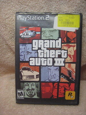 PS2 game: Grand Theft Auto 3 Sony Play Station 2
