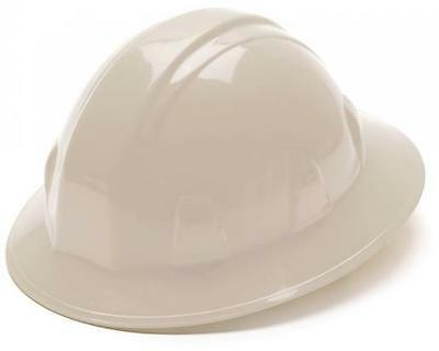 New Hard Hat Pyramex Full Brim 4pt Ratchet White ANSI Approved HP24110