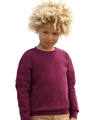 FRUIT OF THE LOOM - Kids Set-In Sweatshirt - sweat - kinder - NEU