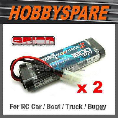 2 x ORION 7.2v 1800 NiMH RC Battery Suit TAMIYA HSP HPI DRIFT CAR BUGGY TRUCK