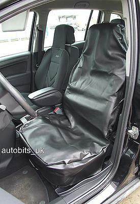 1x  UNIVERSAL BLACK LEATHER FRONT SEAT COVER PROTECTOR FOR CAR VAN BUS TRUCK NEW