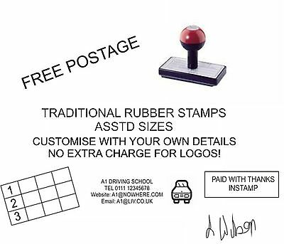 PERSONALISED/CUSTOMISED RUBBER STAMP BUSINESS, ADDRESS, SCHOOL, GARAGE, SHOP etc
