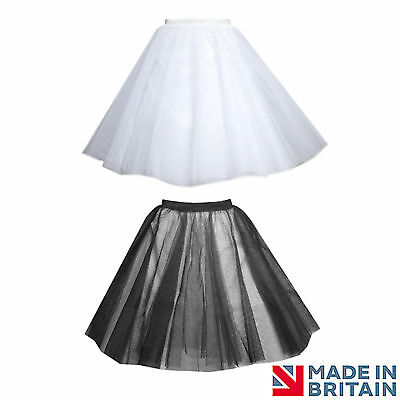 Rock And Roll Black 4 Layers Net Skirt Full Circle Under Skirt Petticoat