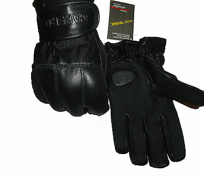 Genuine Leather Premium Quality Sand Gloves – Security Protection, Kevlar lining