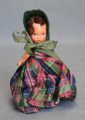 "Vtg Articulated Nancy Ann Storybook  Painted Eye Doll 5 1/2"" All Original"