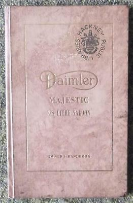 Daimler Majestic 3.8 Litre Saloon Car Owners Handbook 1960 Ref- 05/23