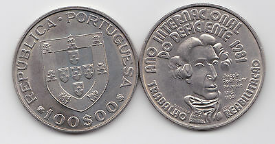 Portugal 1981  100 Esc.  Disabled Persons Ni  Unc