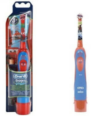 Braun Oral-B Kids Stages Power Battery Toothbrush Disney Cars Boys Children New