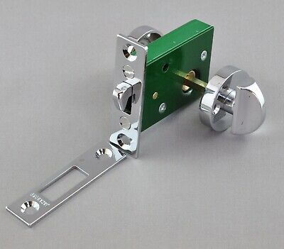 "PRIVACY TURN SNIB-""JACKSONS""-CHROME SLIDING DOOR LATCH-bathroom-toilet-lock-new"