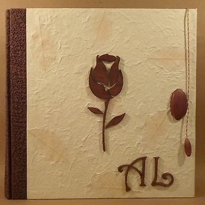 Photo Album Handmade In Italy Photo Wedding Rose And Initial Wooden Gift