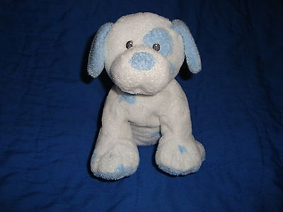 """TY PLUFFIES DOG  Baby Pups Blue spots 8"""" 2007"""