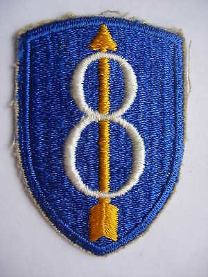 WW2 US Army 8th Infantry Division cloth patch