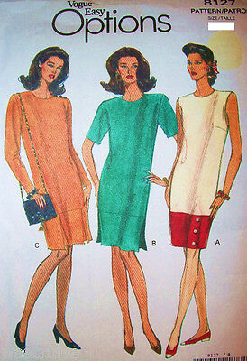 Miss MP Vogue 8127 UNCUT Easy Options Sewing Pattern Straight Dress Sz 8-10-12