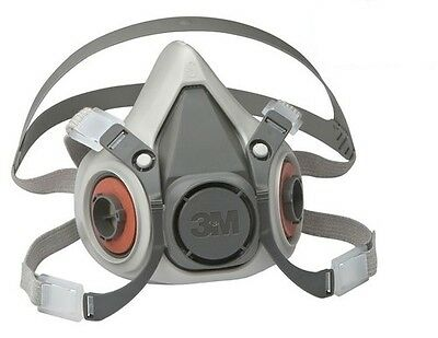 3M 6000 Series Half Mask Reusable Respirator Dust Vapour Mask 6100 6200 6300