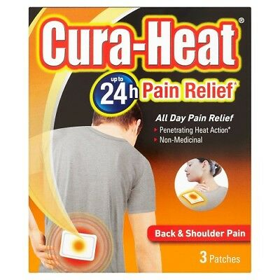 Cura-Heat Pain Relief Back & Shoulder Pain - 3 Patches