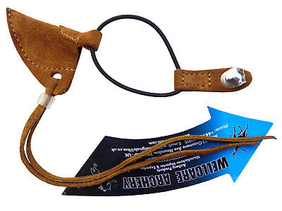 Traditional Fine Camel Suede Bow String Keeper Archery Products.AA402.