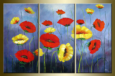 Yuhong Dancing Poppy hand painted floral oil painting bestbid_mall C563