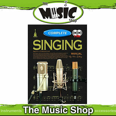 New Progressive Complete Singing Manual - Music Tuition Book + 2 CD's