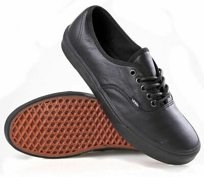 Vans Shoes Authentic Italian Leather Black/black Us Sizes School Decon