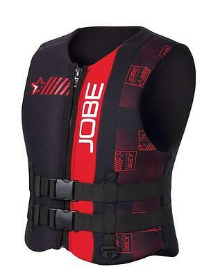 Jobe Progress Neo Vest Men Red Schwimm Rettungs Boot Wasserski Kite Weste
