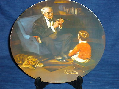 "Vintage 8.5"" KNOWLES Norman Rockwell Plate THE TYCOON 1982"