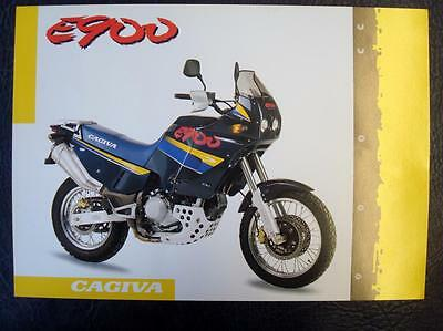 CAGIVA E900 - Motorcycle Specifications Sheet - Single Sheet - English & Italian