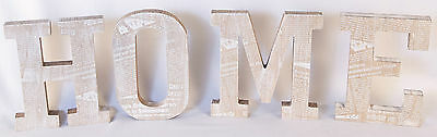 Wooden Word/letters 'home' Shabby Chic Vintage Wall Plaque Sign Table Display