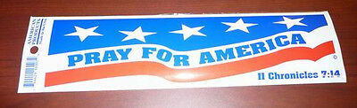 Lot of 100 Pray for America Bumper Stickers Made in USA
