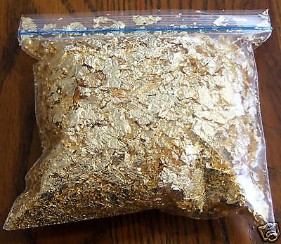 100 Grams Gold Leaf Flake - Huge Beautiful Flakes - If Not Happy Return It
