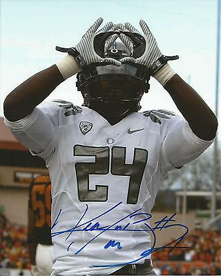 oregon ducks kenjon barner signed 8x10 photo w/coa