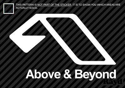 (2x) Above and Beyond Sticker Decal Die Cut #2